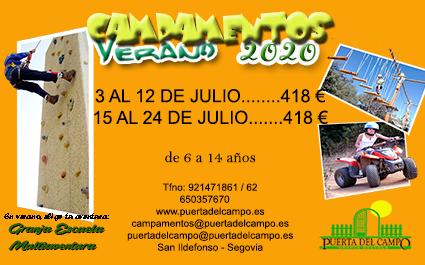 VERANO CAMPAMENTOS 2020