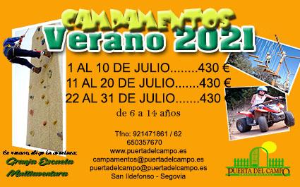 VERANO CAMPAMENTOS 2021